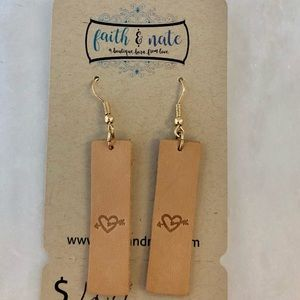 NEW! Genuine Leather Earrings
